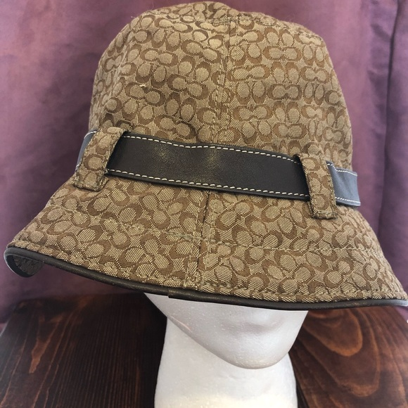 325ceebf4 Coach Accessories | Brown Logo Bucket Hat | Poshmark